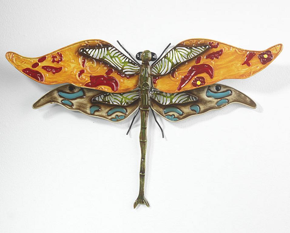 Blech bild schmetterling gecko libelle eidechse wand deko - Wanddeko eidechse ...