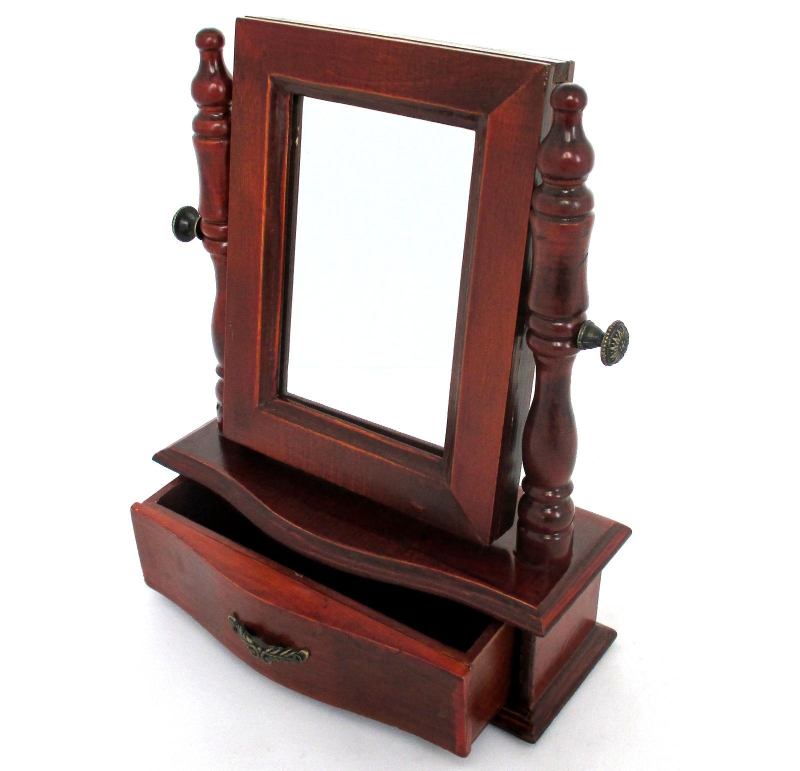 standspiegel kippspiegel und bilderrahmen in einen mit schublade schminkspiegel ebay. Black Bedroom Furniture Sets. Home Design Ideas
