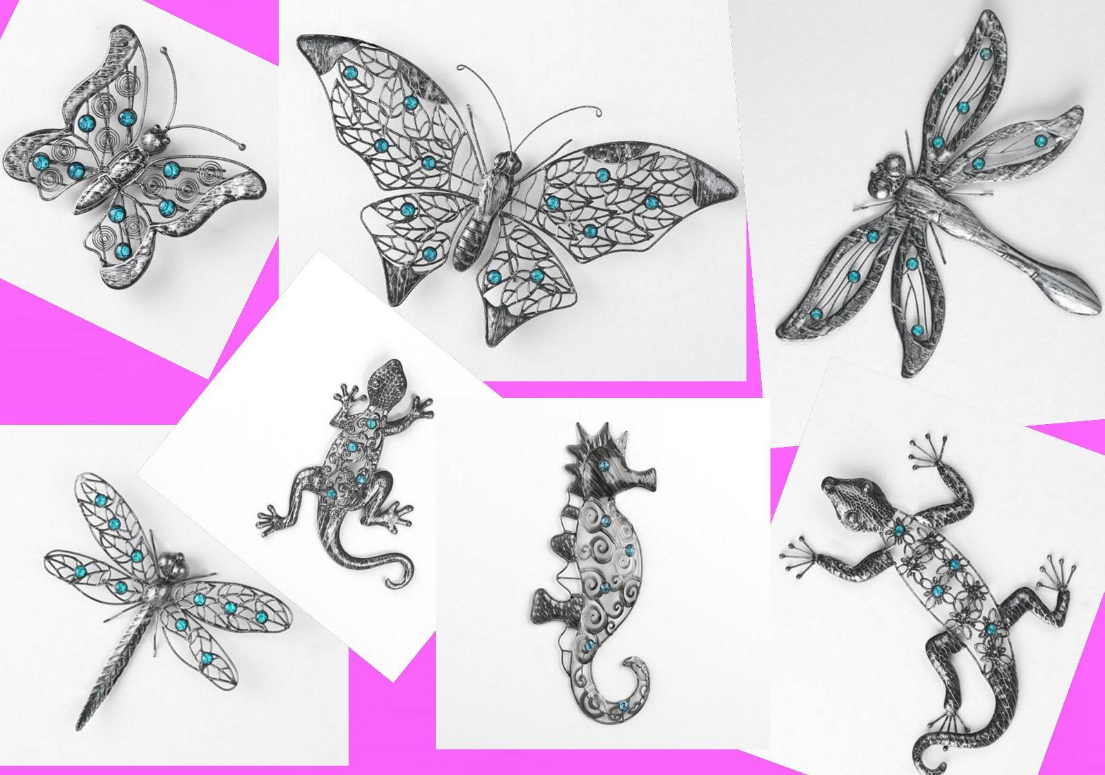 Blech Bild Schmetterling Gecko Libelle Seepferdchen Wand ...