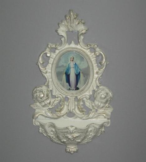 Weihwasserkessel Lourdes mit Madonna