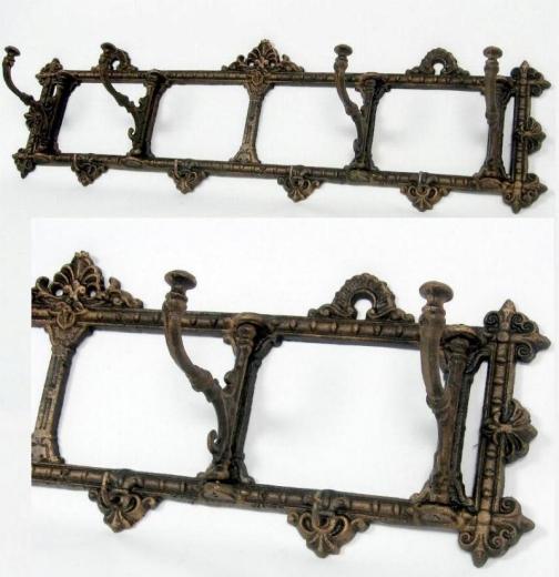 Garderobe Gusseisen Wandgarderobe Garderobenhaken Bronze Hakenleiste Antik - Stil