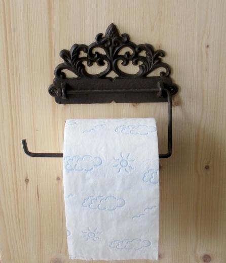 WC Halter Toilettenpapier Antiklook Jugendstil Gusseisen Landhaus- Stil