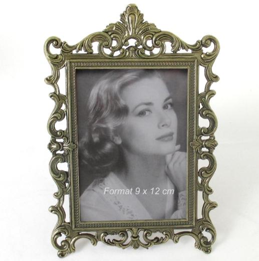 Fotorahmen Bilderrahmen Rahmen Metall verziert Antik
