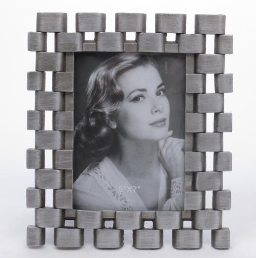 Bilderrahmen Fotorahmen Rahmen Silber mit Echtglas