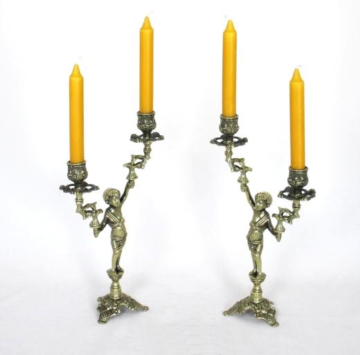 2 Amor Kerzenleuchter Tischleuchter Jugendstil Antik Barock Kerzenständer