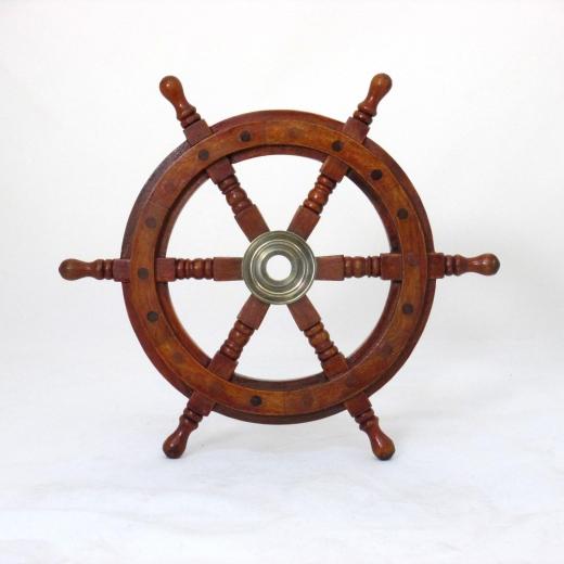 Schiffssteuerrad Steuerrad Piraten Schiff Holz 32 cm