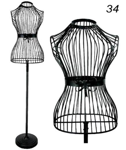 deko kleiderpuppe schneiderpuppe metall kleiderst nder b ste torso schwarz. Black Bedroom Furniture Sets. Home Design Ideas