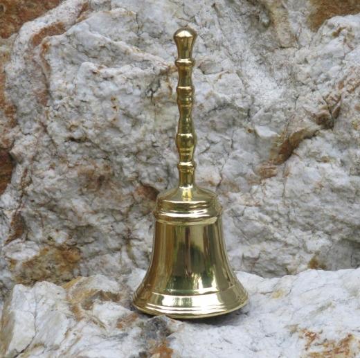 Handglocke Marktglocke Schul - Hotel - Glocke Weihnachtsglocke Messing Guss Qualität