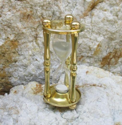 Eieruhr 5 min. Sanduhr Uhr aus Messing Glasenuhr Kurzzeitmesser Timer