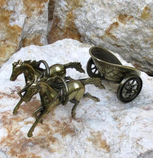 Streitwagen Antike Gladiator Metall Messing