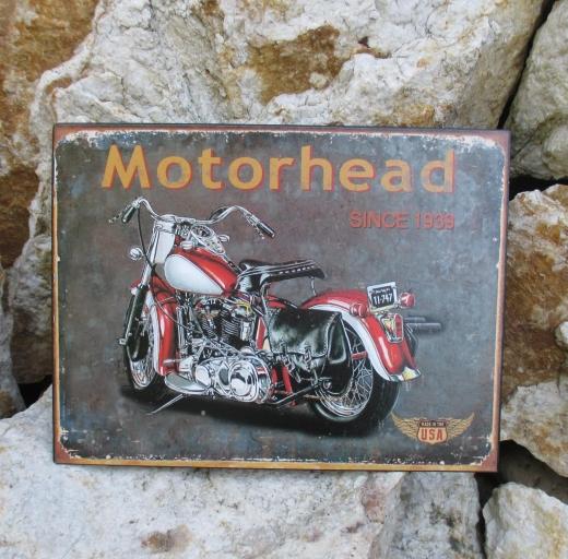 Blechbild Blechschild Metall Wandbild Motorhead since 1939 Motorrad