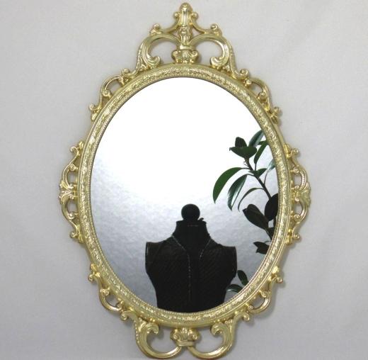 Wandspiegel Oval verziert Deko - Spiegel Schmuck Spiegel Barock Antik