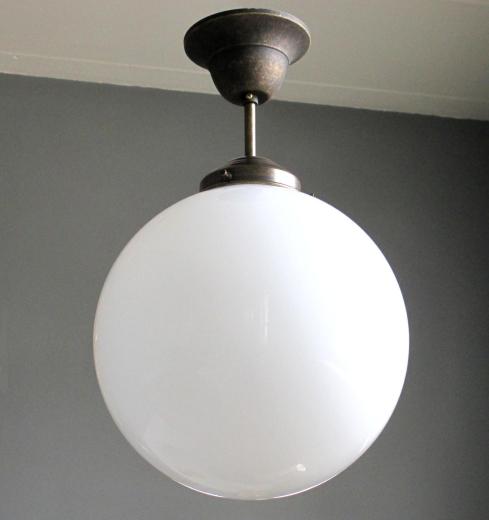 Pendant lamp ceiling lamp Art Deco Art Nouveau Bauhaus opal glass ball antique lamp
