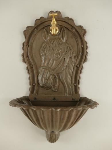 Wandbrunnen 60 cm Pferdemotiv Wandwaschbecken Antik Gusseisen