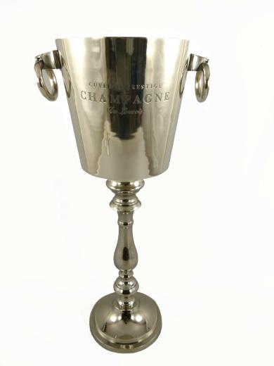 Champagnerkühler EDEL Sektkühler Antik Silber 70 cm Wein Sekt Eiseimer Luxus