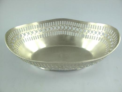 Brotschale Brotkorb Tischschale Silber Jugendstil Tischgedeck