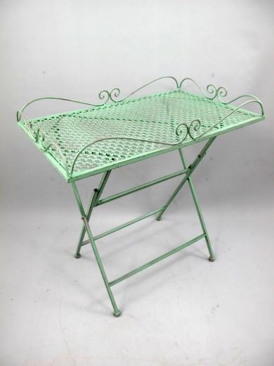 Beistelltisch Tisch Eisen Gartentisch Blumentisch Grün