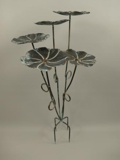 Gartenstecker Lotusblatt Baum Vogel Futterstelle Vogeltränke