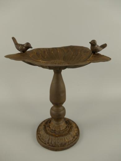 Vogeltränke mit Standfuß Antik  Futterstelle 28 cm