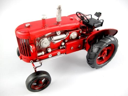Blechmodell Old Traktor Antik Stil Rot Oldtimer 24 cm Bulldog
