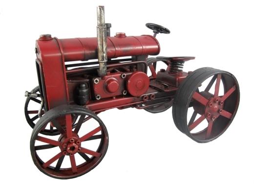 Blechmodell alter Traktor Antik Stil Rot Oldtimer 26 cm Bulldog