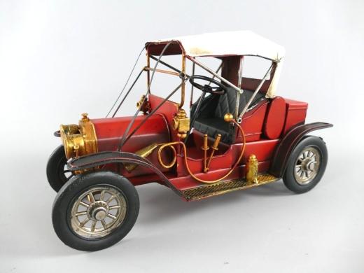 Blechauto Oldtimer Antik Stil Rot 31 cm Modellauto Nostalgie