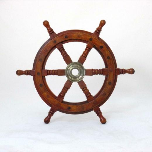 Schiffssteuerrad Maritim Steuerrad Barre Holz