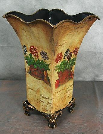 Vase Metall Blumenvase Deko - Vase Landhaus Trockenblumen