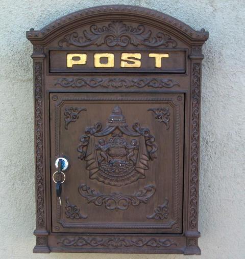 Briefkasten Antik Postkasten Aluminium - Guss Wandbriefkasten Mailbox