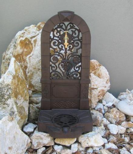 Garten Brunnen Standbrunnen Zierbrunnen Aluminiumguss Antik - Stil Gartenbrunnen