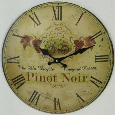Clock metal wall clock wine Küchenuhr with lettering