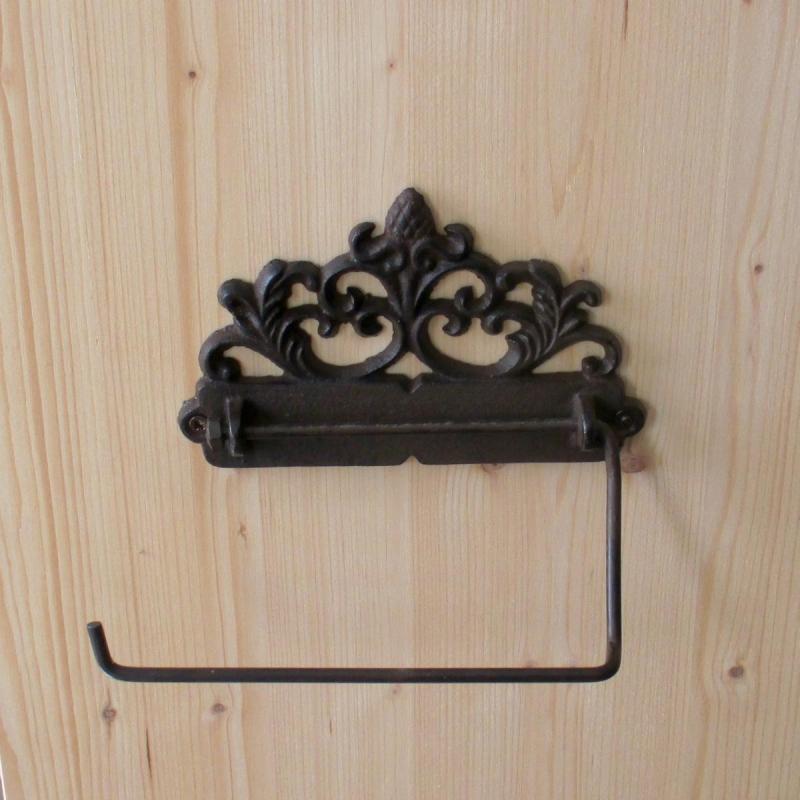 Toilet Holder Toilet Roll Antique Look Art Nouveau Cast Iron Landhaus  Style