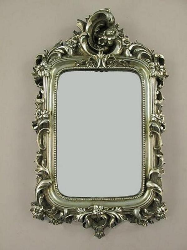 wandspiegel deco spiegel barockspiegel rahmen antik silber barockrahmen. Black Bedroom Furniture Sets. Home Design Ideas