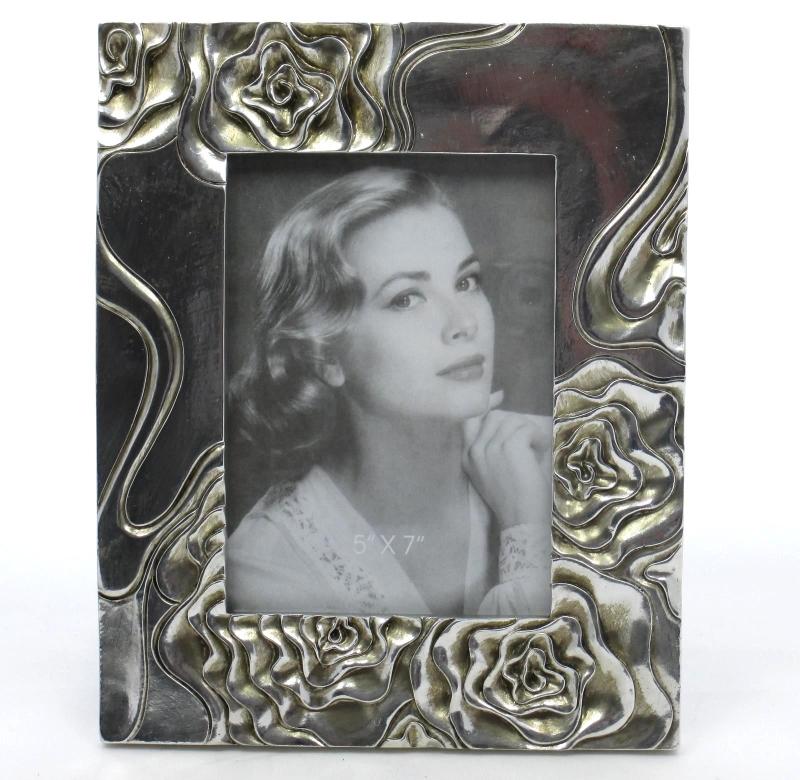 Bilderrahmen Fotorahmen Echtglasscheibe Antik - Stil Rahmen Silber