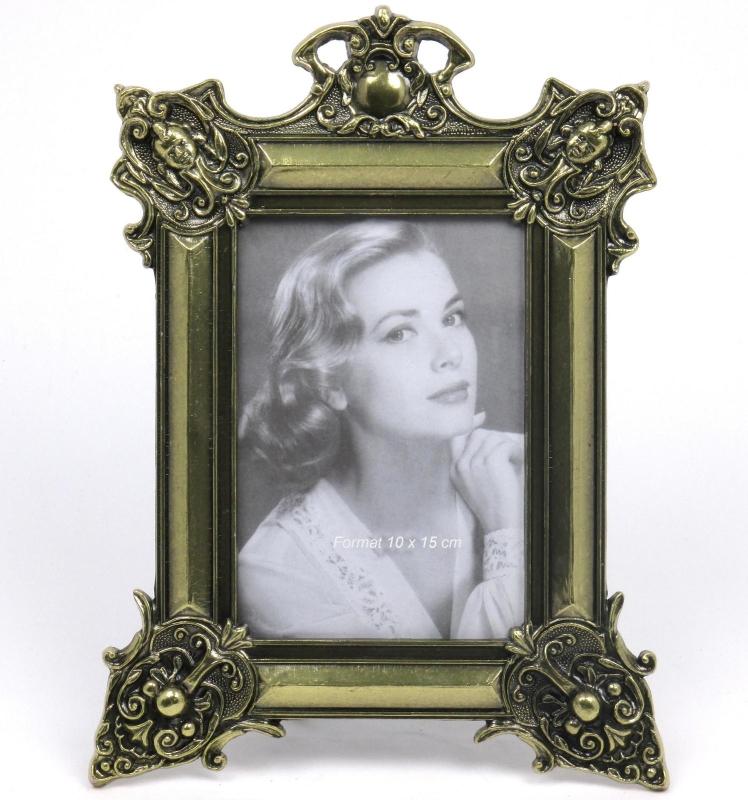fotorahmen bilderrahmen metall barock rokoko foto frame messing optik antik. Black Bedroom Furniture Sets. Home Design Ideas