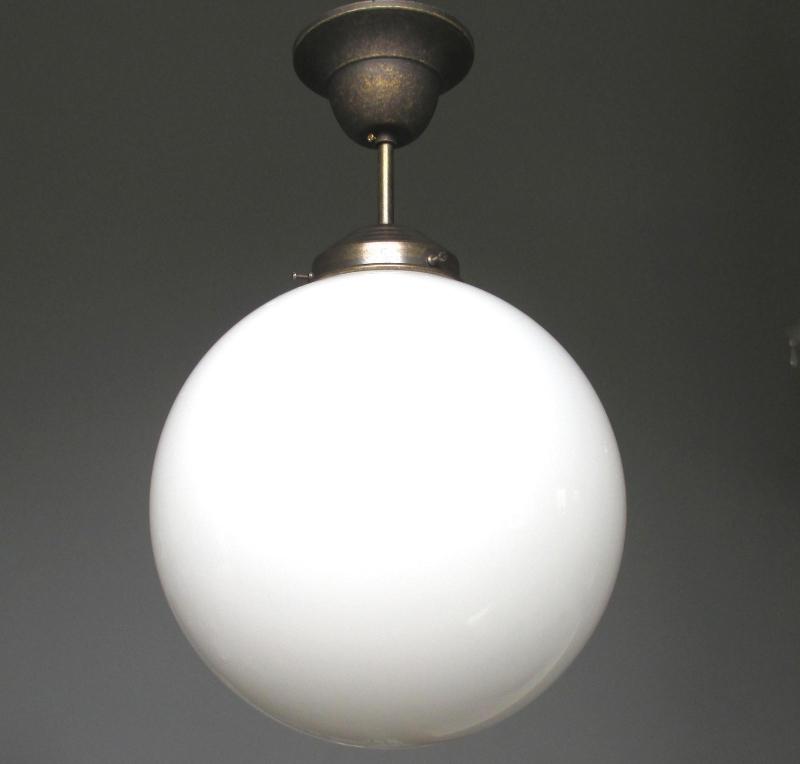 Hängelampe Deckenlampe Art Deco Jugendstil Bauhaus Opalglas Kugel ...