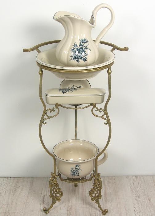 Waschset Antik mit Waschtisch Lavabo Waschgeschirr Krug Seifenschale ...
