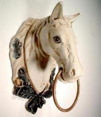 Pferdekopf Gußeisen Antik Zügelhalter Türdeko Eisen Wand Deko  Pferd Wandhänger