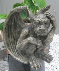 Gargoyle Wächter Figur Torwächter Kunstharz Mystische Gartenfigur Drachen Wetterfest