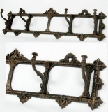 Wardrobe cast iron coat rack coat hooks Bronze  antique - style