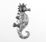 Wall-decoration seahorse made ​​of metal 47 cm