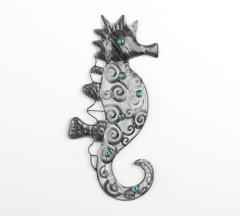 Wandbild Deko Seepferdchen aus Metall 47 cm