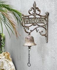 Türglocke aus Gusseisen Türdekoration Welcome Glocke 30 cm