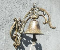 Glocke Klingel Türglocke Antik Wandglocke Gusseisen Gartenglocke Geläut