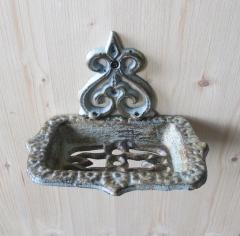 Seifenschale Seifenablage Seifenhalter Antik Jugendstil Landhaus Gusseisen