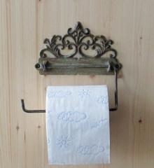 Toilet holder Toilet roll antique look art nouveau cast iron cottage - style