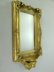 Wandspiegel mit Ablage Deko - Spiegel Barock - Spiegel Konsole Spiegel Antik Gold