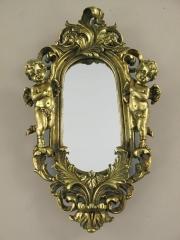Wandspiegel Engel Deko - Spiegel Barock - Spiegel Rahmen Antik Gold Barockrahmen
