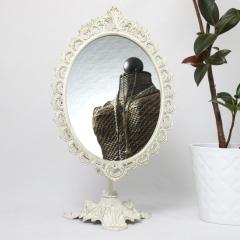 Standspiegel Deko - Spiegel Kippspiegel Schminkspiegel Kosmetikspiegel Antik 40 cm
