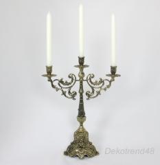 Kerzenleuchter 3 - Armig Leuchter Metall Antik Barock verzierter Kerzenständer